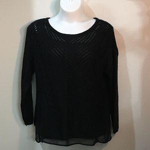 Black Knit Sweater XXL